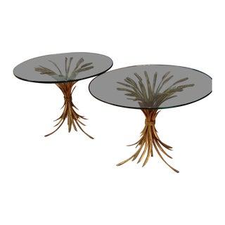 Vintage Italian Gilt Metal Tables - Pair