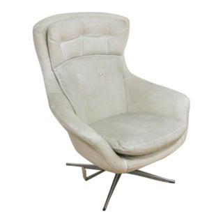 Overman Swivel Lounge Chair Scandinavian Modern, Circa 1970