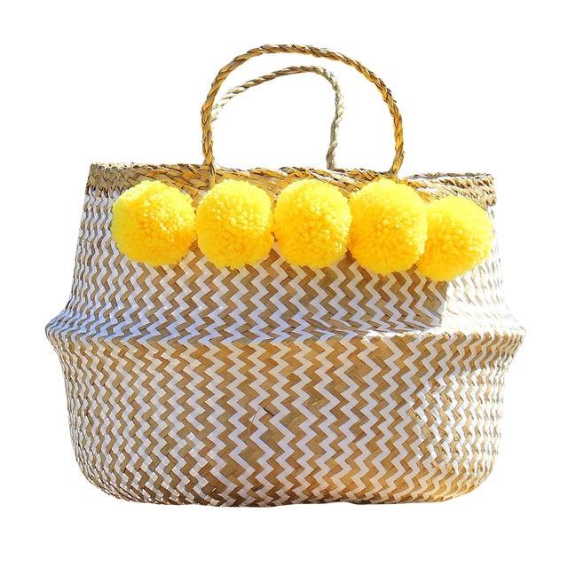 """Brunna """"Borrego X Borneo No. 2"""" Boho Basket - Image 1 of 3"""