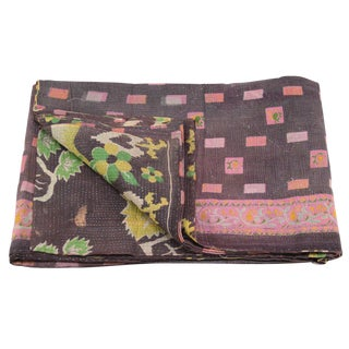 Iris Vintage Kantha Throw