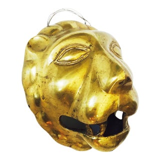Brass Wall Mounted Lion Head