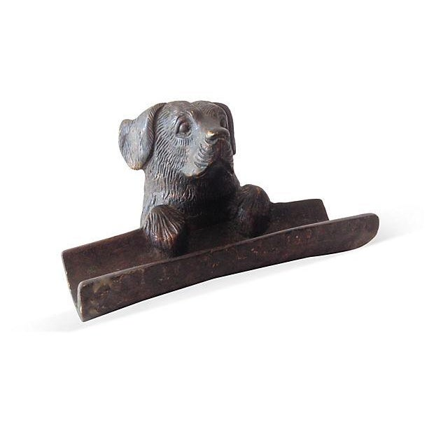 Image of Cast Bronze Black Lab Pen Rest