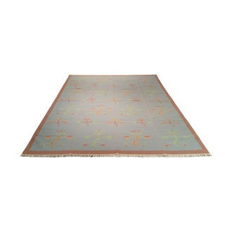 Modern Dhurrie Hand Made Knotted Rug - 9′2″ × 12′1″