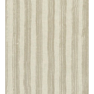 Tyndall Painted Stripe Fabric in Gold - 10 Yards