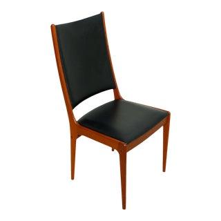 Oversized Danish Modern Teak Tallback Accent or Side Chair