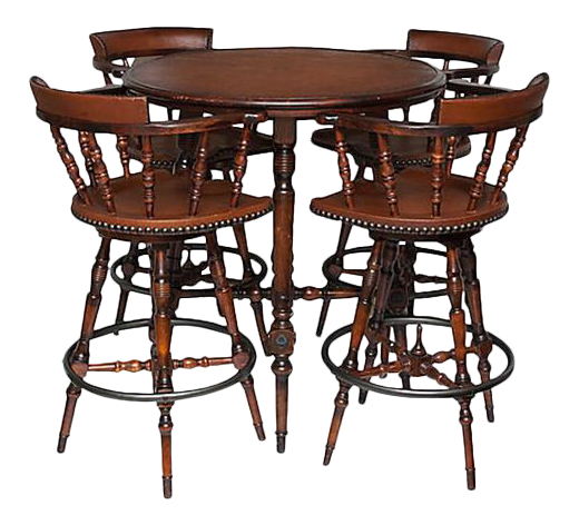 Spanish Colonial Style Game Table U0026 Chairs Set   Set ...