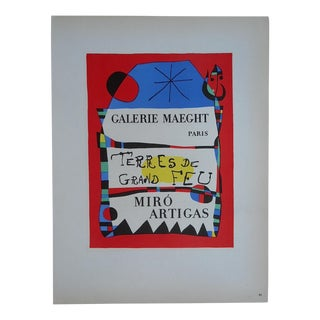 Miro Mid 20th C. Modern Lithograph-Mourlot