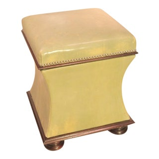 George Smith Baby Belville Leather Ottoman