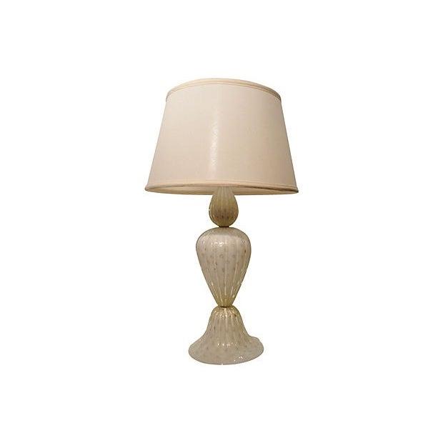 White Murano Art Glass Table Lamp - Image 7 of 7