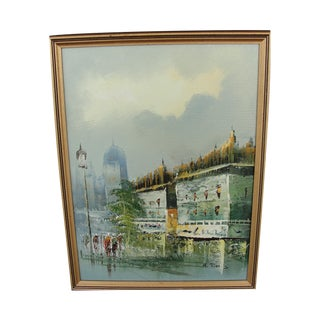 Mid Century Impressionist Paris Cityscape