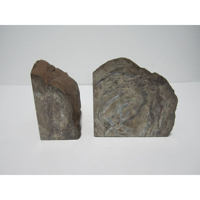 Vintage gray geode bookends a pair chairish - Geode bookends ...