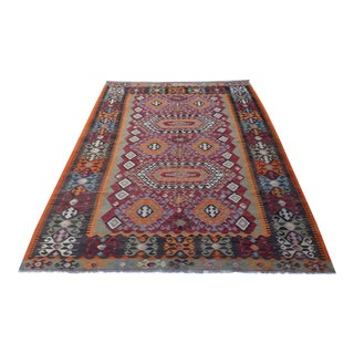 Vintage Turkish Kilim Rug - 6′10″ × 10′