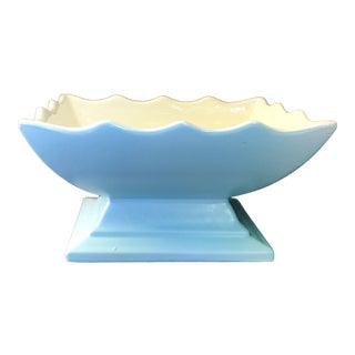 Scalloped Hull Footed Planter Vase