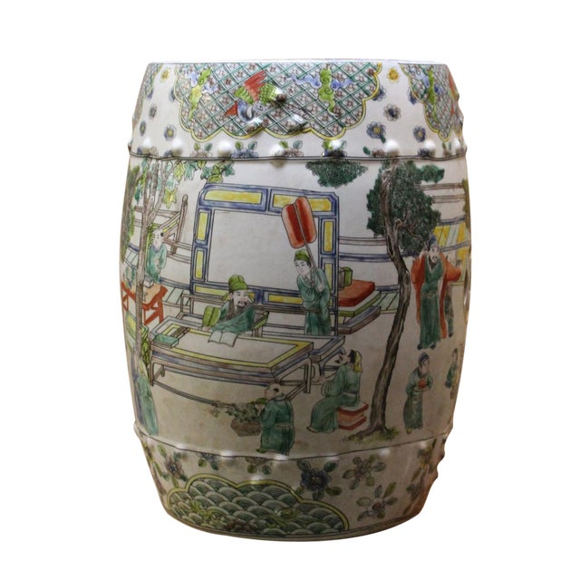 Chinese Porcelain Garden Stool with Scenery - Image 1 of 10