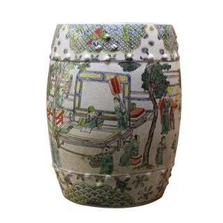 Chinese Porcelain Garden Stool with Scenery