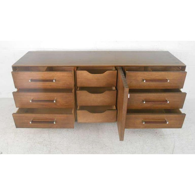 Mid-Century Modern American Walnut Dresser - Image 4 of 8