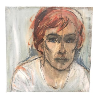 """""""Woman With Red Hair"""" Painting"""