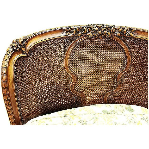 19th-C. French Caned Recamier - Image 3 of 7