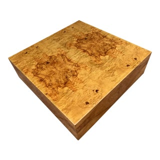 Milo Baughman Burl Wood Coffee Table