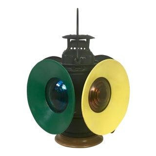 Vintage Adlake 4-Way Signal Railroad Lantern Lamp