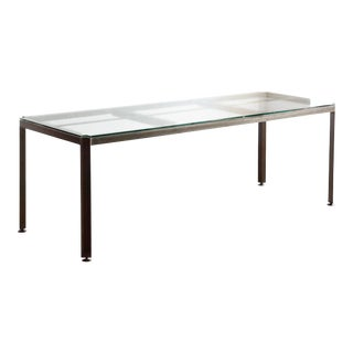 Angle Iron & Glass Industrial Dining Table