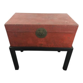 Contemporary Chinoiserie Style Wood Chest