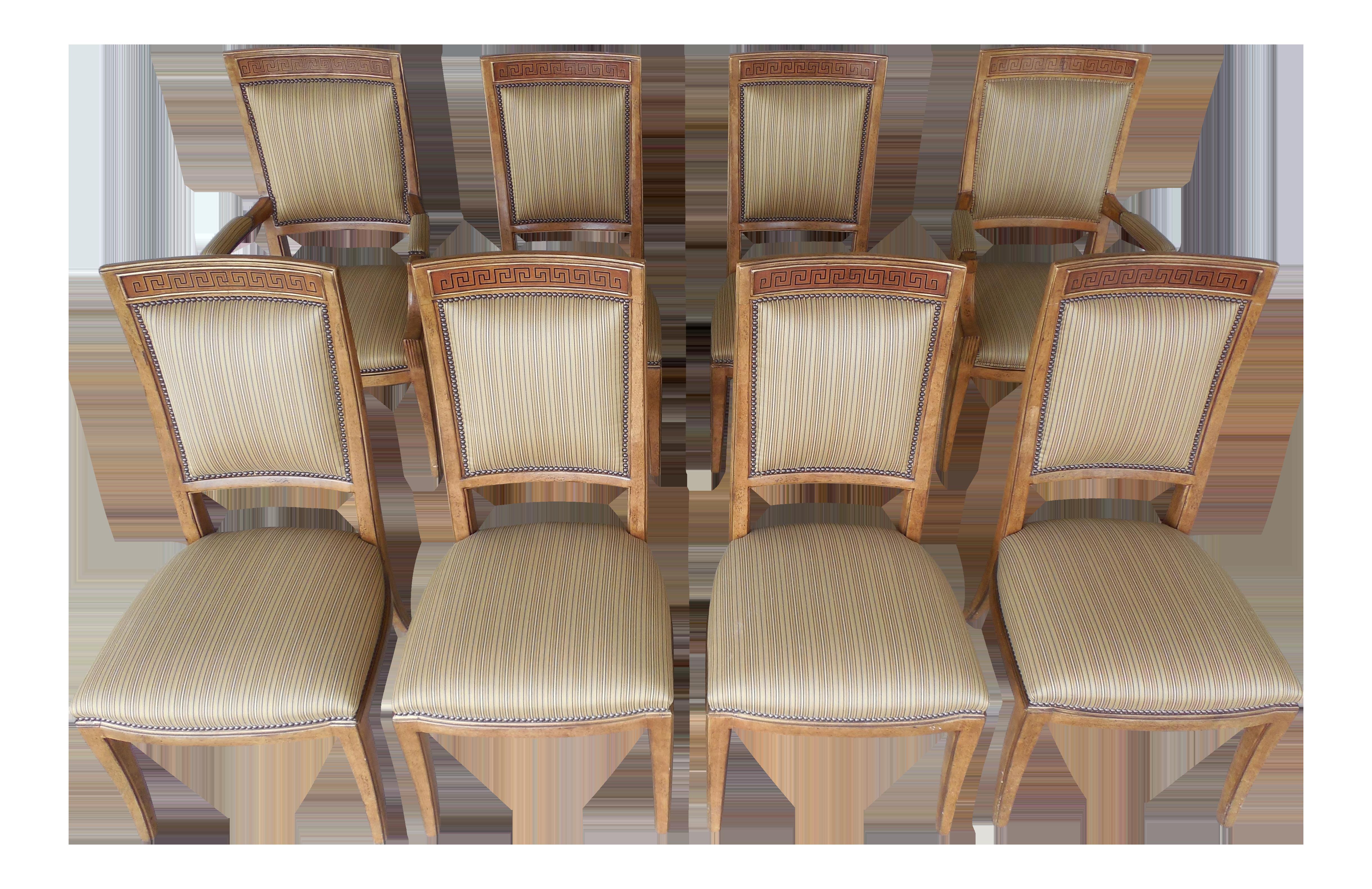 Ferguson Copeland Neoclassical Regency Style Chairs   Set Of 8