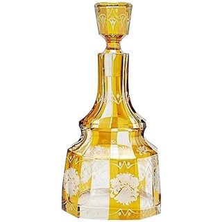 Art Deco Bohemian Decanter