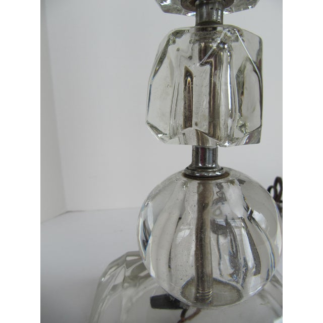 Image of 1940's Glass Table Lamp