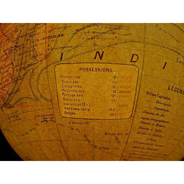 A Illuminated French Terrestial Globe - Image 7 of 8
