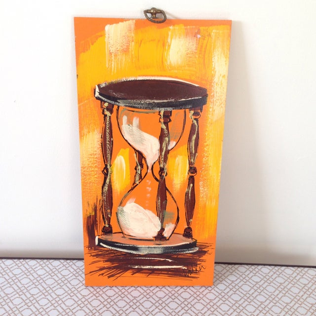 Image of Mid-Century Hour Glass Painting