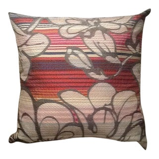 Custom Made Missoni Home Pillow With Silk Back