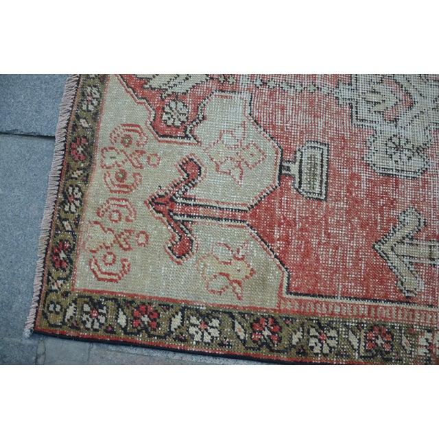 Bohemian Floor Wool Rug - 3′6″ × 7′4″ - Image 6 of 6