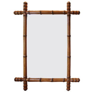 Faux Bamboo English Mirror