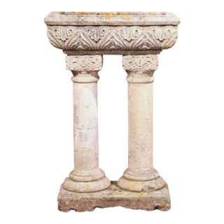 Early 19th Century French Carved Stone Jardiniere From Normandy