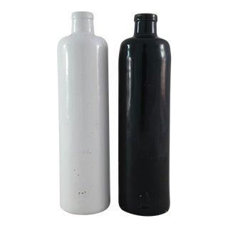 James Beam Stoneware Bottles - A Pair