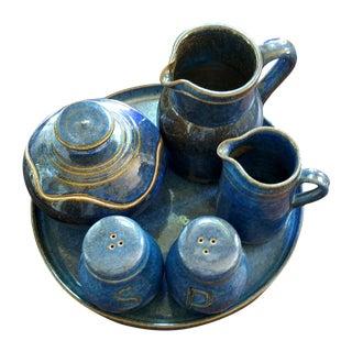 Saint Amand en Puisaye Les Bleus Condiment Set