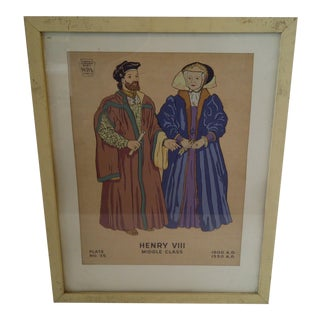 """Museum Exhibition Project WPA """"Henry VIII"""" Print"""