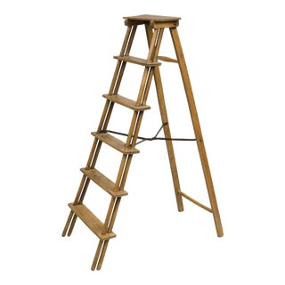 French Fruitwood Step Ladder