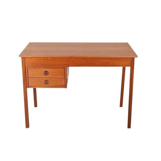 Danish Teak Desk - Image 1 of 9
