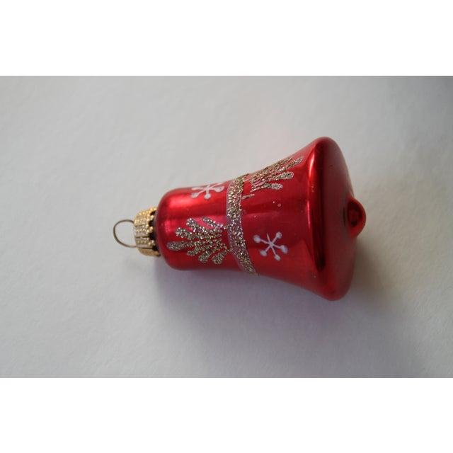 Image of Glass German Bell Ornaments - Set of 6