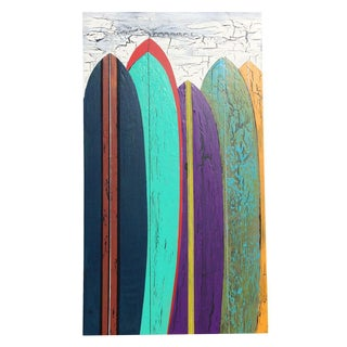 Contemporary Abstract Surfboard Painting