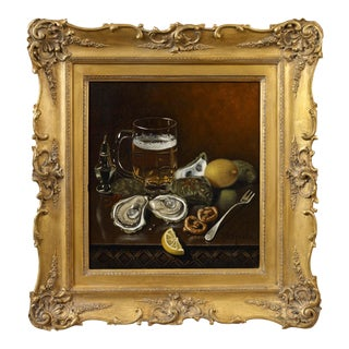 Thomas Sedgewick Steele Still Life of Oysters