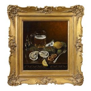 Thomas Sedgewick Steele Still Life of Oysters