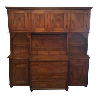 1840s Austrian Country Style Wooden Hutch