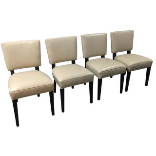 Room & Board Georgia Leather Chairs - Set of 4