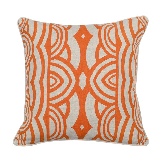 Image of Modern Orange Down Pillow