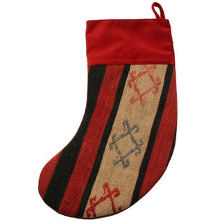 Rug & Relic Frost Kilim Christmas Stocking