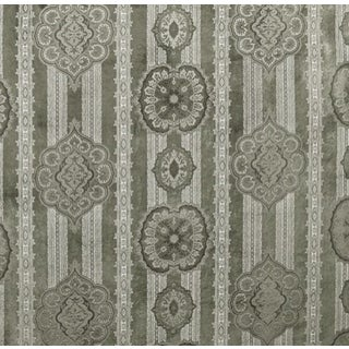Casimir Gilded Paisley Fabric in Pewter