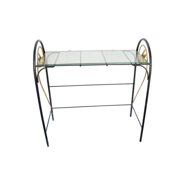 Art Deco Wrought Iron Console - Image 1 of 5